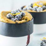 Receta de muffins de arándanos en el microondas