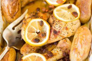 Pechugas de pollo al limón al microondas