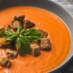 Como hacer sopa de patata y tomate al microondas