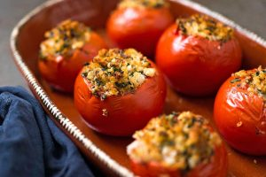Receta de tomates rellenos en el microondas