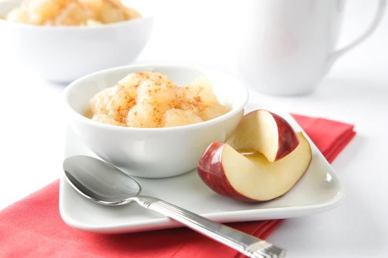 compota de manzana en el microondas