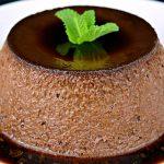 Flan de chocolate en el microondas