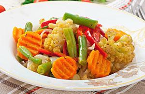 Recetas de verduras al microondas