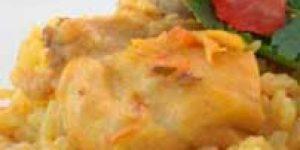 Cocinar arroz con pollo con microondas